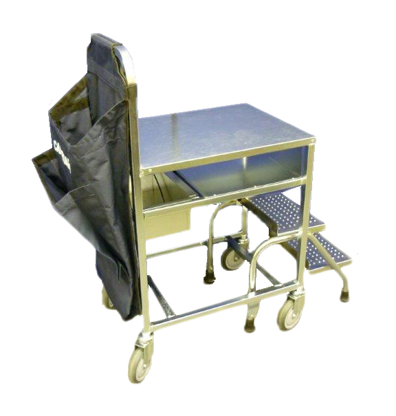2 Step Stocking Table Complete With Waste Bag