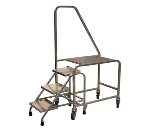 Compact 3 Step Stocking Trolley
