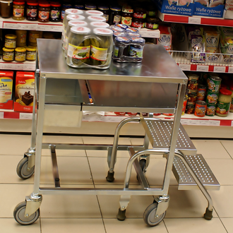 Mobile Merchandising Table - 2 Step - MCI0025