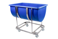 RM180FSS - Stainless Steel Trough Frame With Coloured Plastic Trough