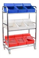 Specifications Food Contact Approved External Dimensions (mm) LxWxH 970 x 470 x 1405 Material Stainless Steel, Polyethylene