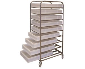 9 Tier Tray Trolley