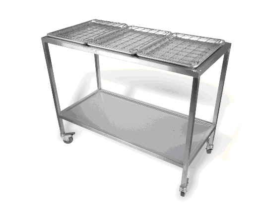 Gastronorm Triple Tray Trolley