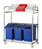 RM10MTSS - Stainless Steel Mobile Multi Bay Trolley