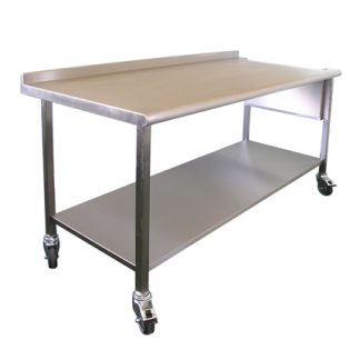 Stainless Steel Wall Table Bull Nose